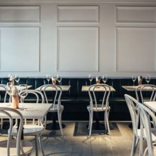 Restaurant furniture at Le Bab London by DeFrae Contract Furniture
