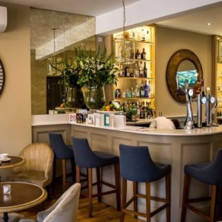 Butlers Restaurant, bar and terrace in Arundel, West Sussex, restaurant and bar furniture by DeFrae Contract Furniture London.