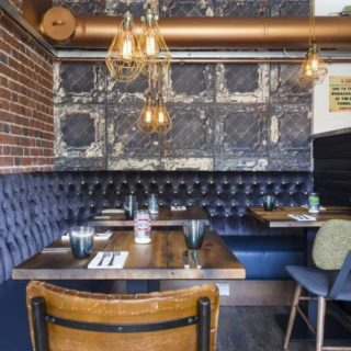 Restaurant and bar furniture by DeFrae Contract Furniture at Charcoal Kitchen Queens Inn