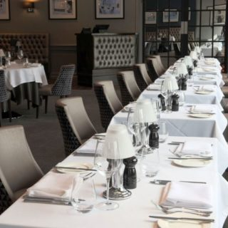 Restaurant furniture by DeFrae Contract Furniture at Marco Pierre White in Hinckley, Leicestershire.