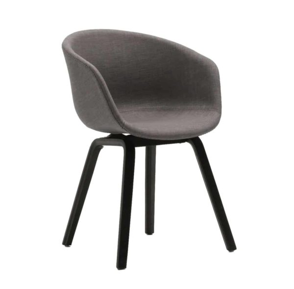 About Armchair at DeFrae Contract Furniture Upholstered Black Legs