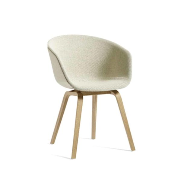 About Armchair at DeFrae Contract Furniture Upholstered Cream Natural Beech Legs