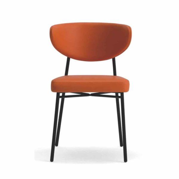 Albie Side Chair DeFrae Laco Ivy Restaurant Bar Coffee Shop Burnt Orange