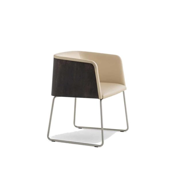 Allure Armchair 737 Sled Base Pedrali at DeFrae Contract Furniture