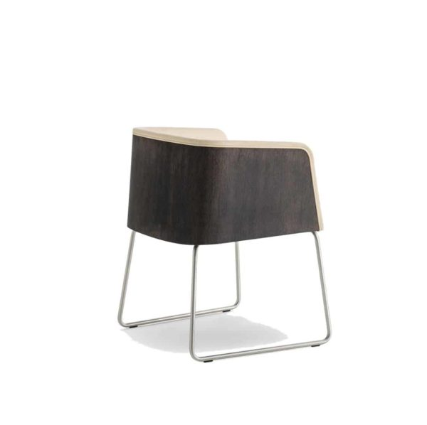 Allure Armchair 737 Sled Base Pedrali at DeFrae Contract Furniture Back