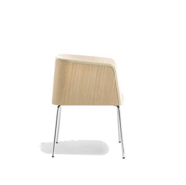 Allure Armchair 738 Pedrali at DeFrae Contract Furniture Side On