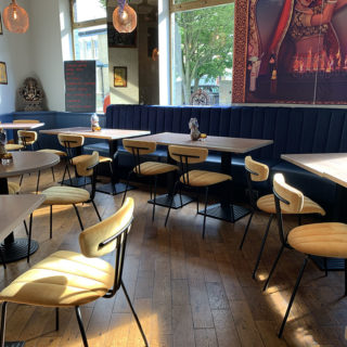 Amy Side Chairs at Tandoor at The Chambers by DeFrae Contract Furniture