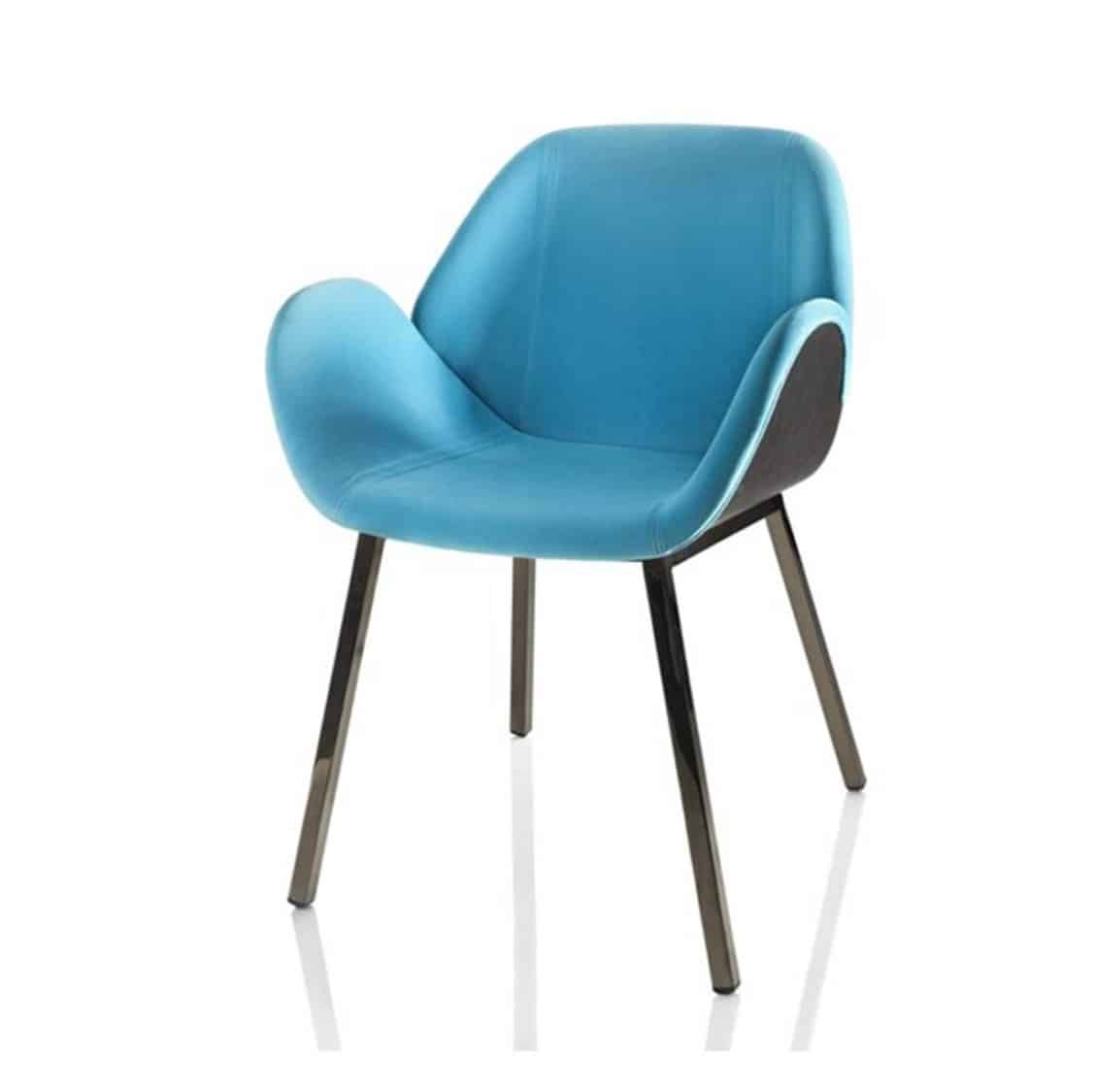 Angel Armchair Lips Alma Design DeFrae contract furnirure blue
