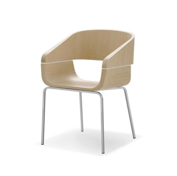The Apple armchair is ergonomic and contemporary in shape. A perfect chair for any restaurant or coffee shop.