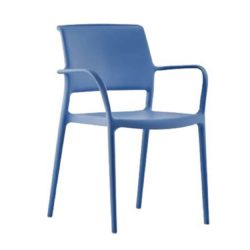 Ara Armchair from Pedrali at DeFrae Contract Furniture Blue