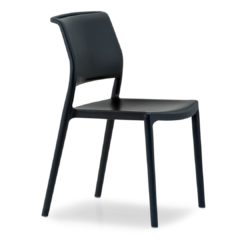 Ara Outside Side Chair Pedrali Available At DeFrae Contract Furniture