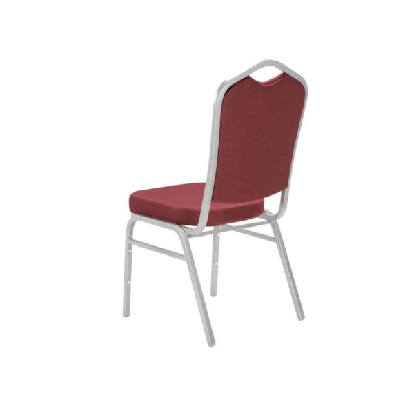 Ark Banqueting Chairs Red & Silver