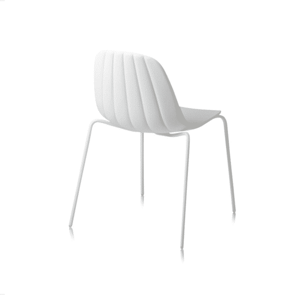Baba Side Chair Outdoor DeFrae Contract Furniture White