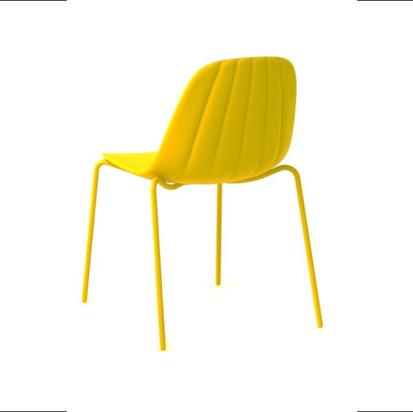 Baba Side Chair Outdoor DeFrae Contract Furniture Yellow