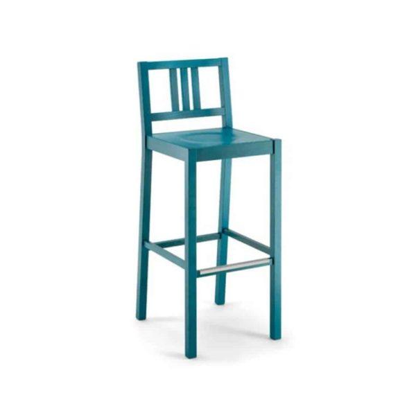 Barney Bar Stool FSC DeFrae Contract Furniture Xedra X-Ilaria Blue