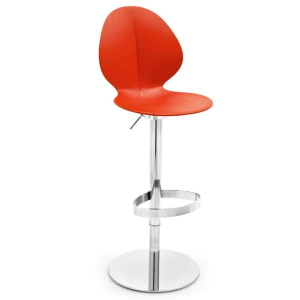 Basil Height Adjustable Bar Stool Calligaris available from DeFrae Contract Furniture Red Hero