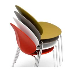 Basil Side Chair Calligaris available from DeFrae Contract Furniture Stackable Colours