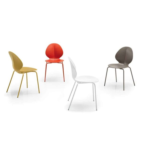 Basil Side Chair Calligaris available from DeFrae Contract Furniture Stackable Colours Range 2