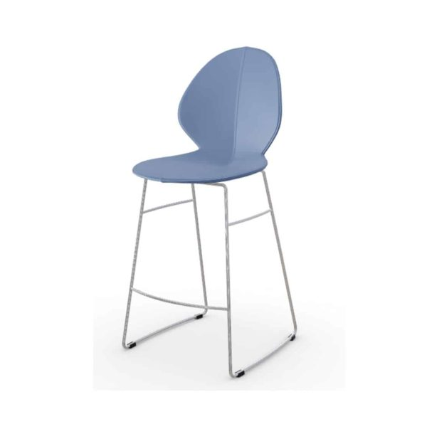 Basil Sled Base Bar Stool Calligaris available from DeFrae Contract Furniture Blue