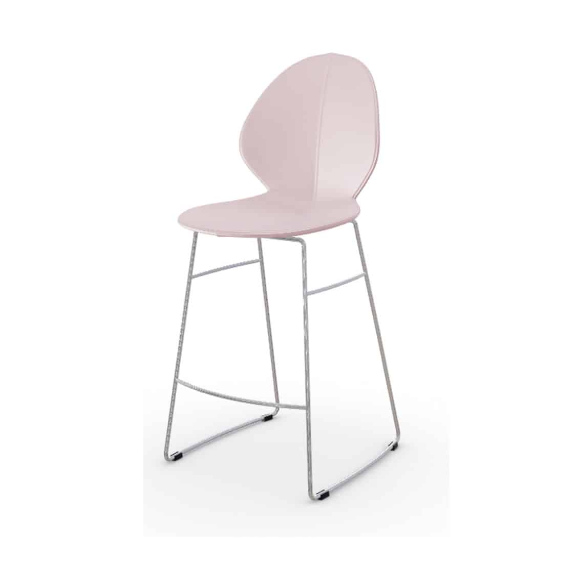 Basil Sled Base Bar Stool Calligaris available from DeFrae Contract Furniture Pink