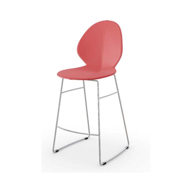 Basil Sled Base Bar Stool Calligaris available from DeFrae Contract Furniture Red