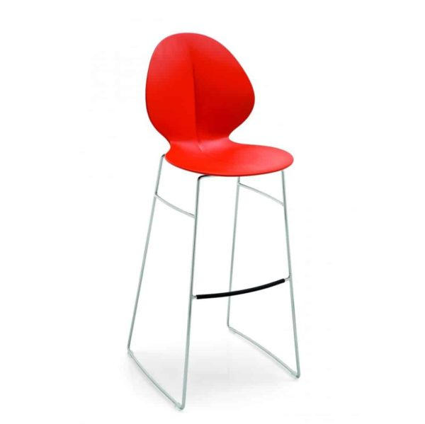Basil Sled Base Bar Stool Calligaris available from DeFrae Contract Furniture Red Hero