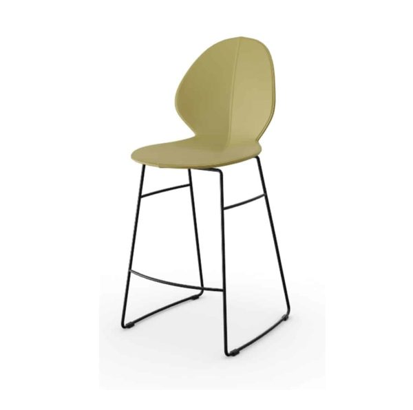 Basil Sled Base Bar Stool Calligaris available from DeFrae Contract Furniture Tan