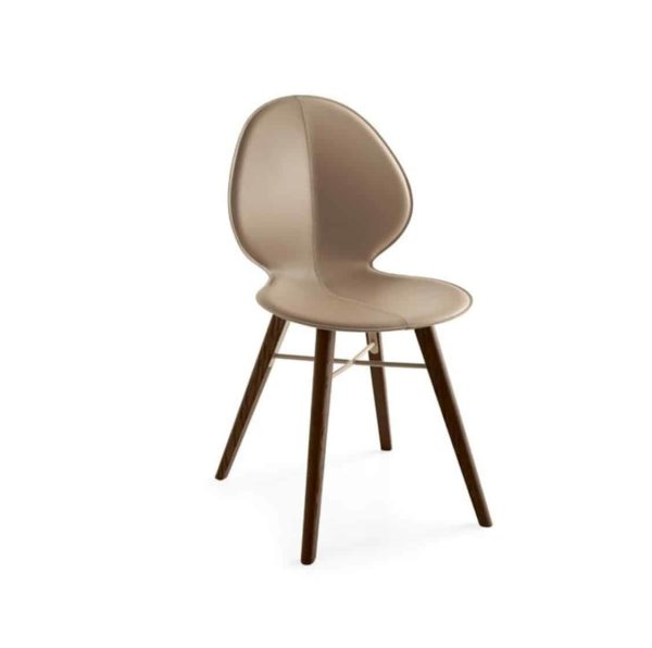 Basil Wood Side Chair Calligaris available from DeFrae Contract Furniture Brown