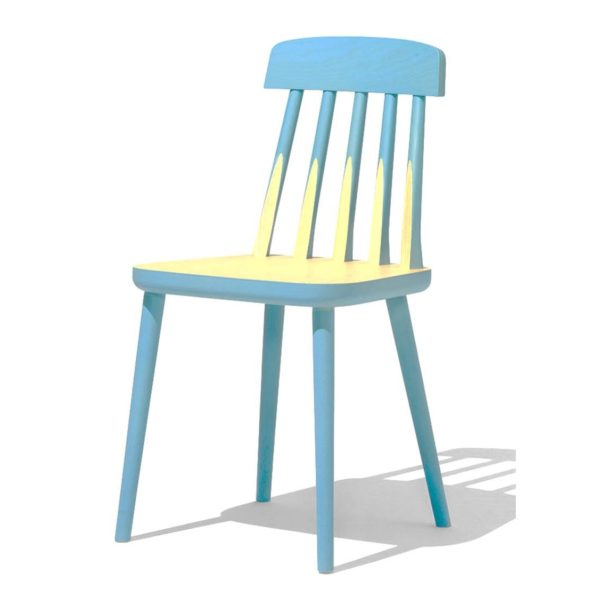 Blaze side chair spindle back wood chair from DeFrae Contract Furniture