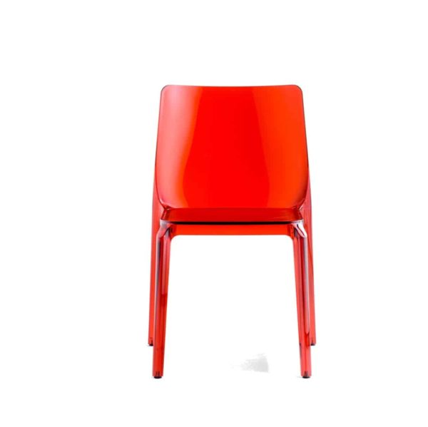 Blitz outside chair Pedrali DeFrae Contract Furniture red stackable