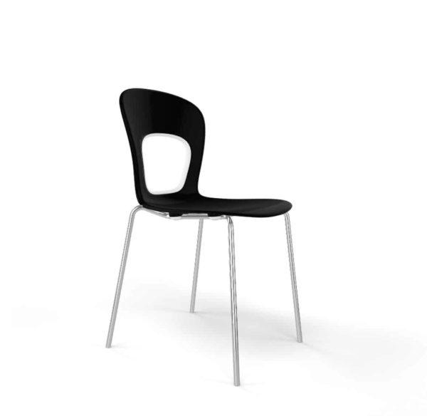 Blog Side Chair Gaber at DeFrae Contract Furniture Black