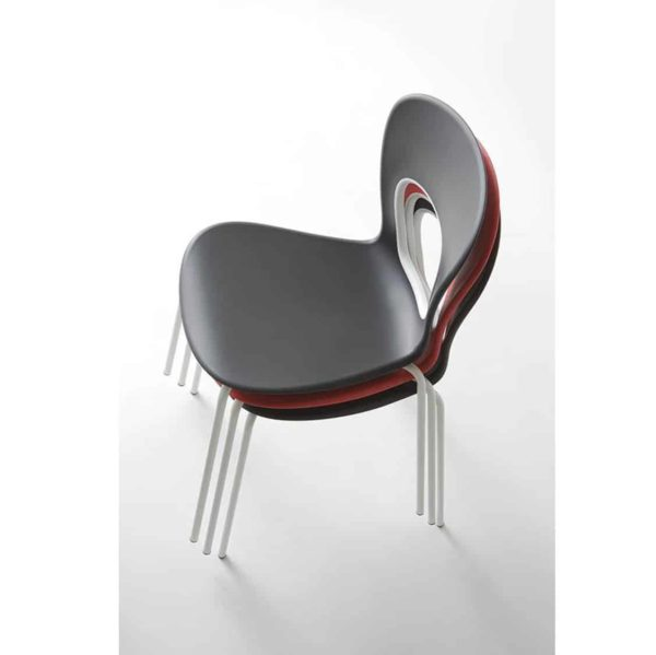 Blog Side Chair Red Gaber at DeFrae Contract Furniture Colours Stackable