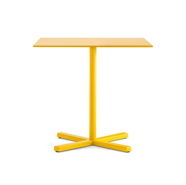 Bold Table Base Pedrali DeFrae Contract Furniture Yellow