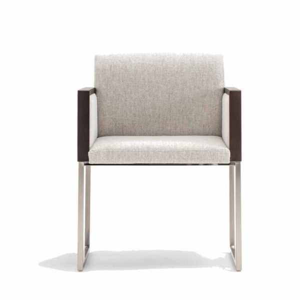 Box armchair at DeFrae Contract Furniture by Pedrali Front View