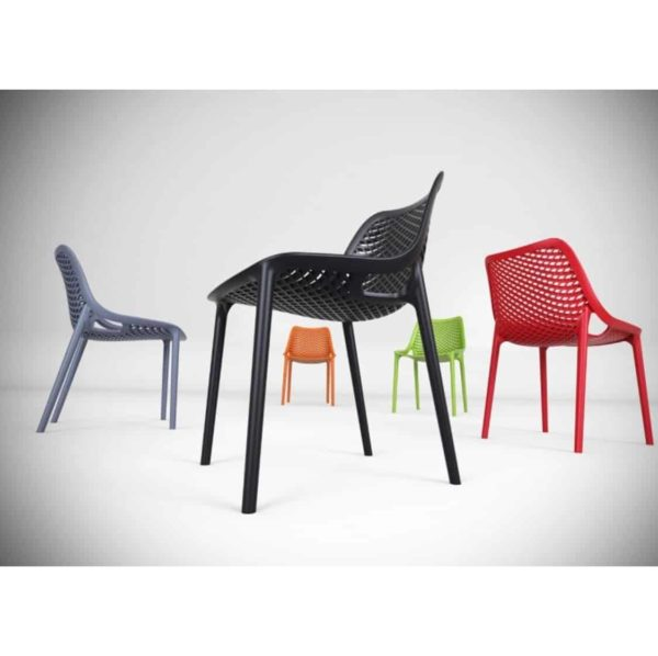 Bruce Stackable Outside Chair DeFrae Contract Furniture Range