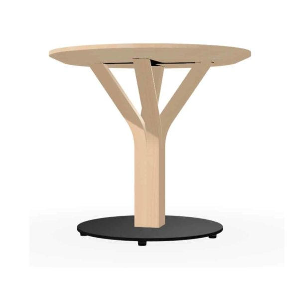 Bud Table Bloom Ton DeFrae Contract Furniture Natural with black base