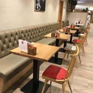 Coffee shop cafe furniture at Primo Caffe by DeFrae Contract Furniture.