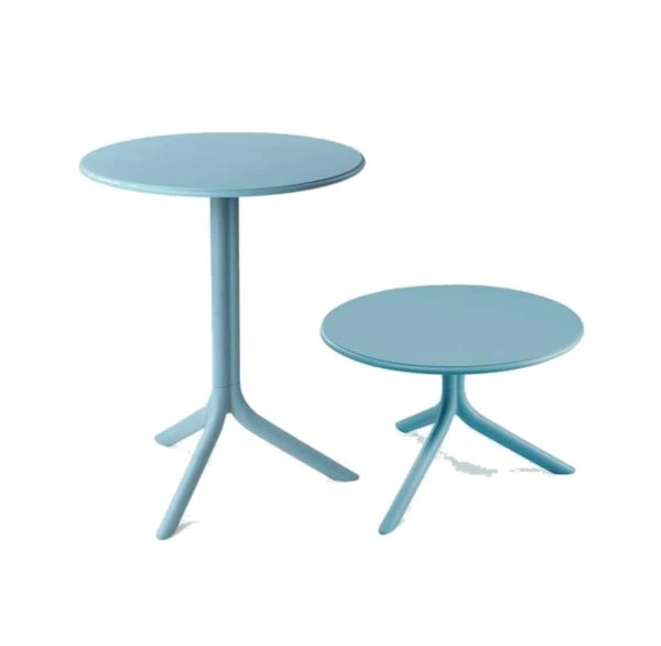 Candy Table Nardi Spritz DeFrae Contract Furniture Blue Dining and Coffee Table height