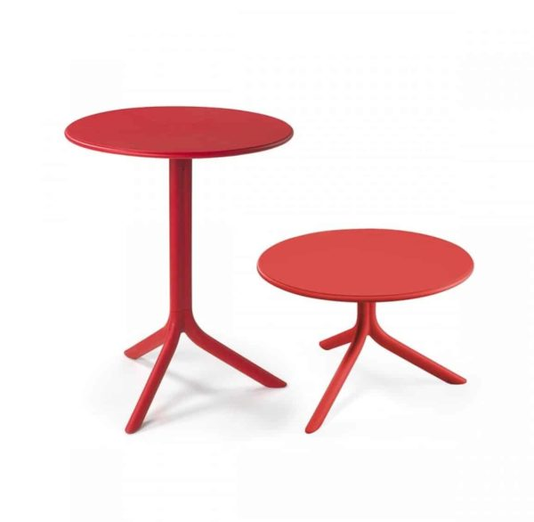 Candy Table Nardi Spritz DeFrae Contract Furniture Dining and Coffee Table height Red