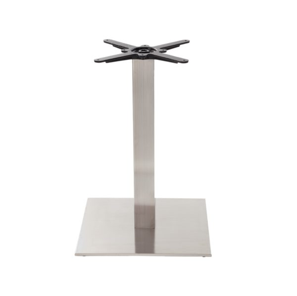 Carlton Stainless Steel Table Base DeFrae Contract Furniture Single Dining Height