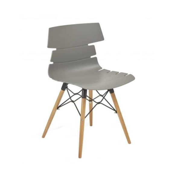 Cavendish Side Chair Wooden Legs DeFrae Contract Furniture Grey