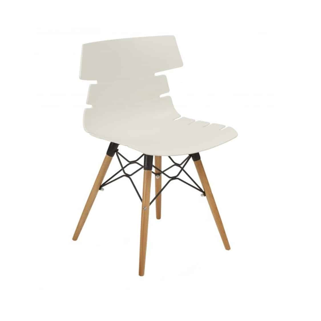 Cavendish Side Chair Wooden Legs DeFrae Contract Furniture White