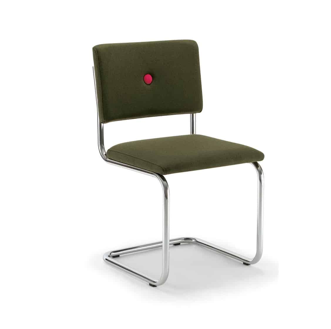 Ceska Side Chair Cantileve Base DeFrae Contract Furniture