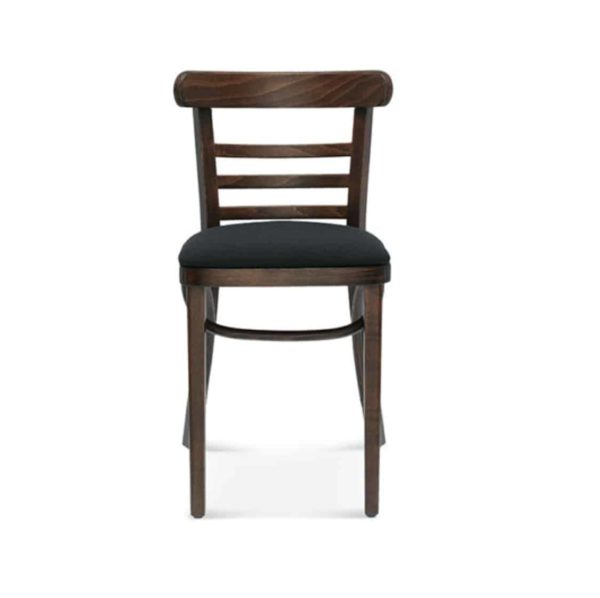Charlie Classic Wood Chair Slatted Back Pub Restaurant Chair Bentwood Front View