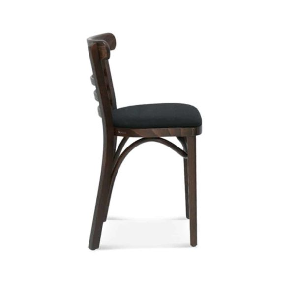 Charlie Classic Wood Chair Slatted Back Pub Restaurant Chair Bentwood Side on
