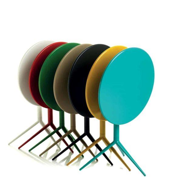 Ciak folding table base DeFrae Contract Furniture Alma Design Colours Range