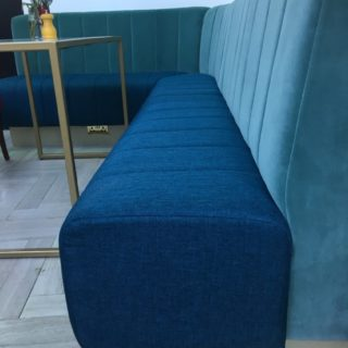 Vertical Fluting Banquette Seating at Timmy Green London Victoria by DeFrae Contract Furniture