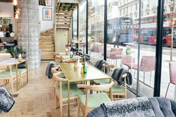 Restaurant coffee shop cafe furniture at Timmy Green London Victoria by DeFrae Contract Furniture