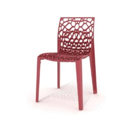 Coral side chair eco friendly and stackable rose pink