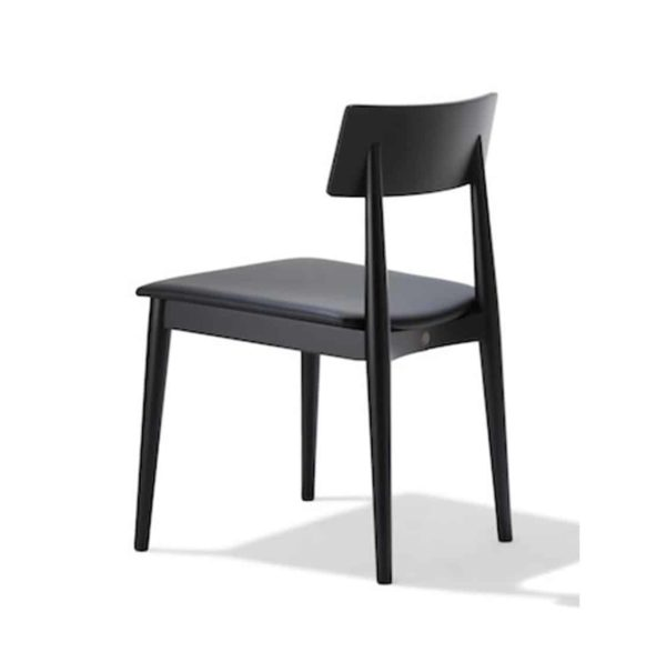 Crack side chair DeFrae Contract Furniture Black Stained Wood Chair